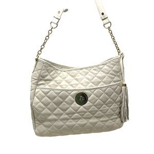 Isaac Mizrahi Quilted Leather Shoulder Bag Purse